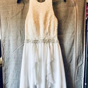 EUC white size 3 bridal shower cocktail dress